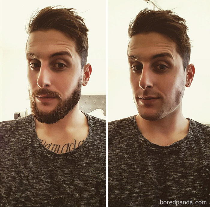 It Was Time For The Beard To Go, Compulsory Before And After Shot, And Shameless Selfie. Till Next Time