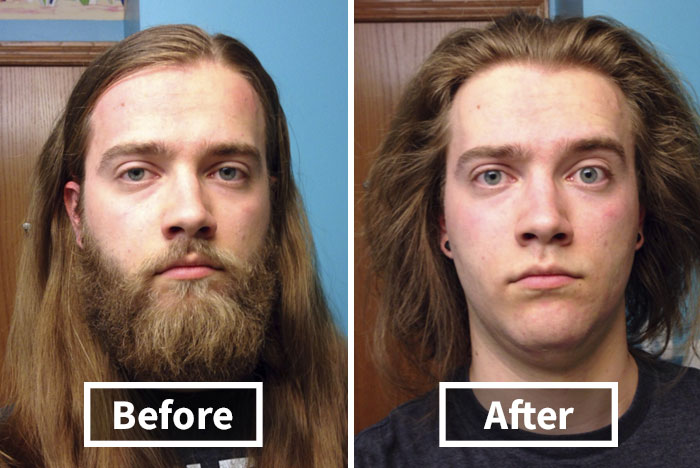10+ Men Before & After Shaving That You Won't Believe Are The Same Person