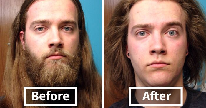 50 Men Before After Shaving That You Won T Believe Are The Same