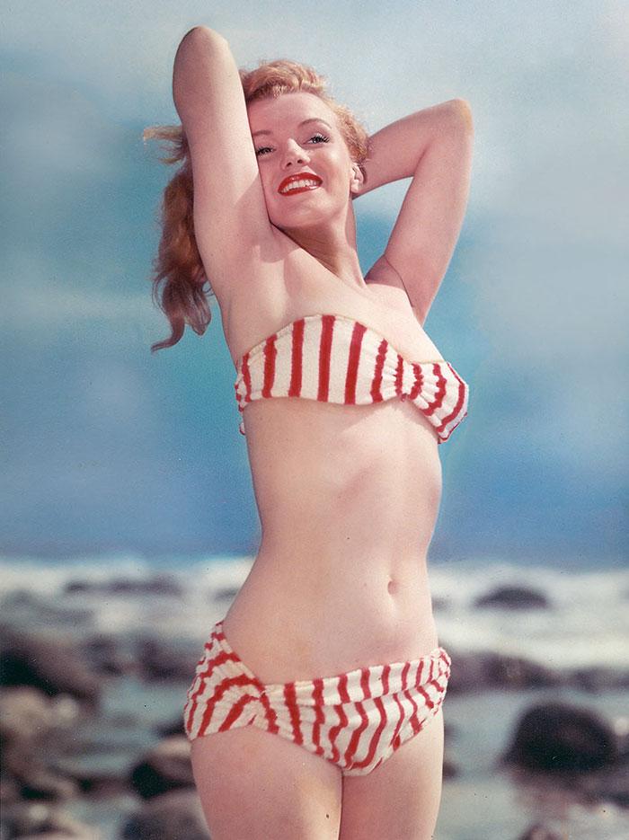 Resultado de imagen para Marilyn en traje de baño