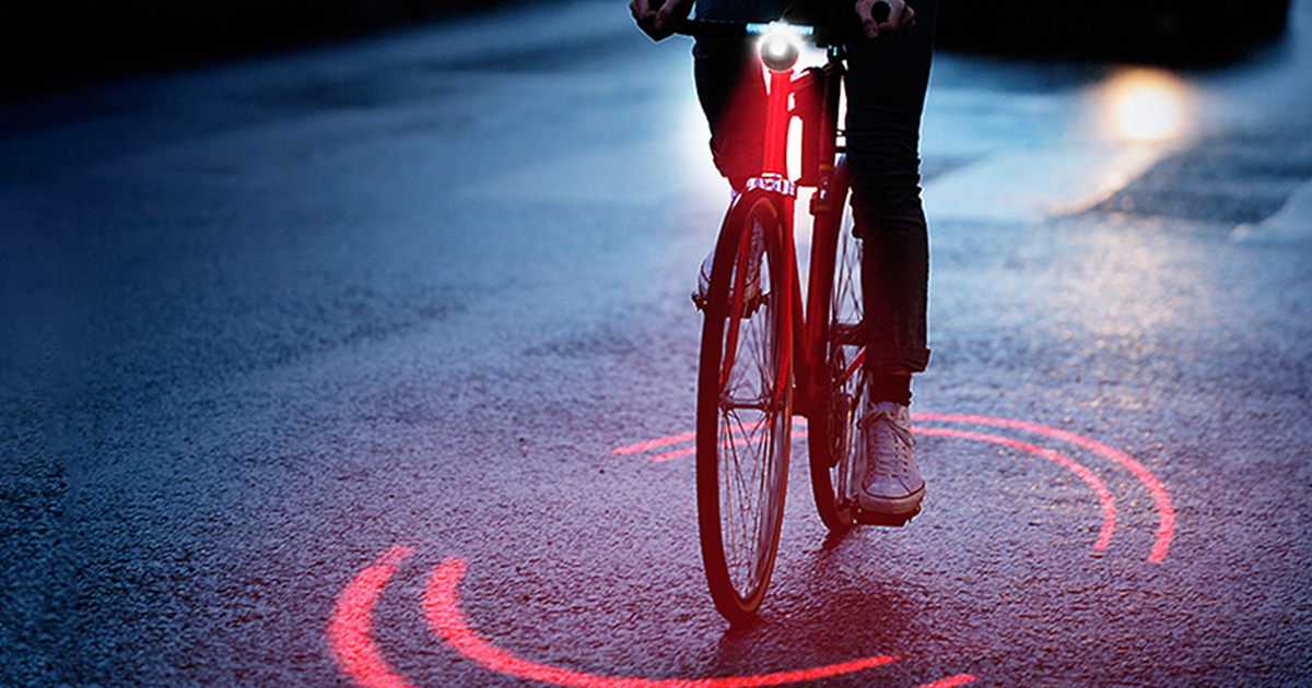 Michelin Just Made A Bike Lighting System That Protects Cyclists From Traffic Inside Its Ring Of Red Light