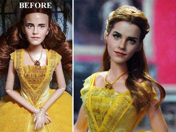 El artista que repinta muñecos para que sean más realistas con resultados ¡impresionantes!