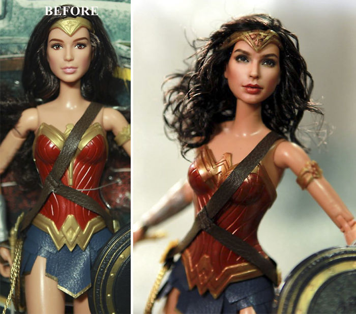 Artist Repaints MassProduced Dolls To Make Them Look More - Artist repaints disney princesses to look more realistic with amazing results