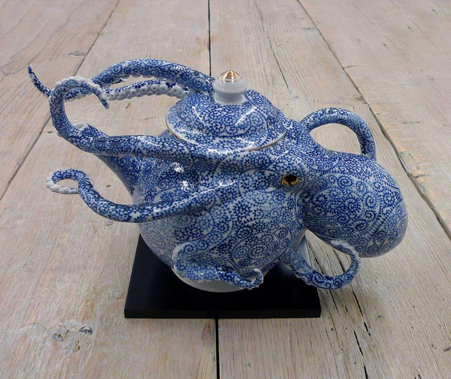 Half Octopus Half Pottery Japanese Artist Creates Ceramics That Blur The Line Between Function