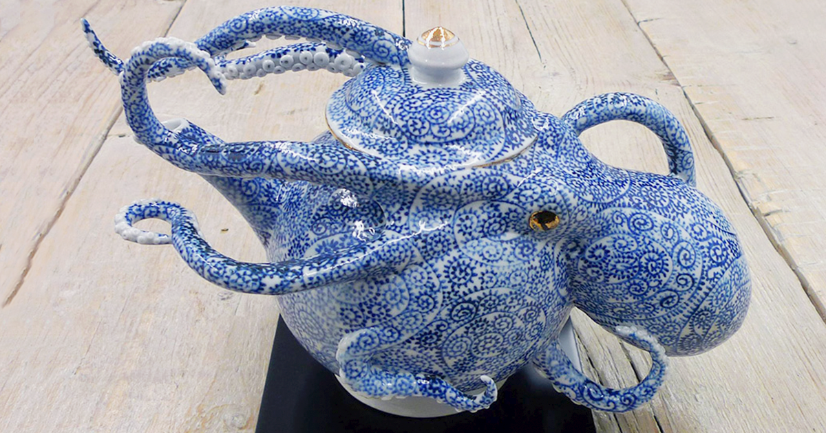 Half-Octopus, Half-Pottery: Japanese Artist Creates Ceramics That Blur The Line Between Function And Form