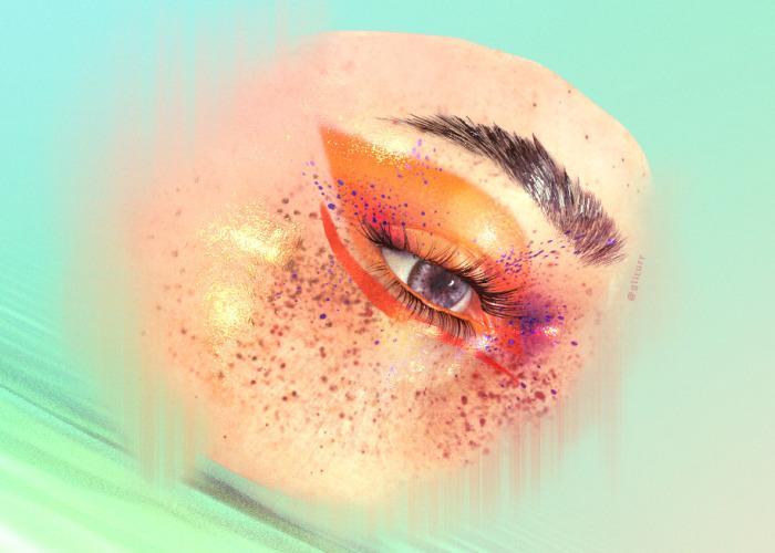 I Make Glitchy Makeup Inspiration Artworks