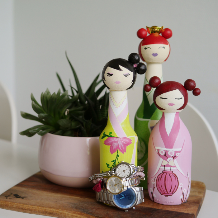 I Collected Glass Bottles And Ended Up Creating Japanese Dolls