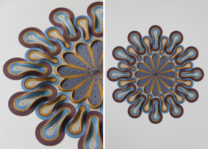 I Create 3D Paper Tapestries Made With Curled Paper Strips