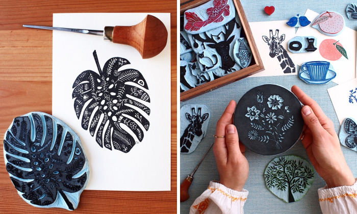 I Make Handprints And Hand Carvings Inspired By Nature, Culinary, Travel And The Beauties Of Life