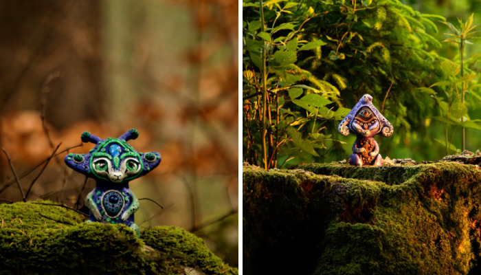 Artist Hides Miniature Works In Local Forest And They Look Straight Out Of A Fairytale