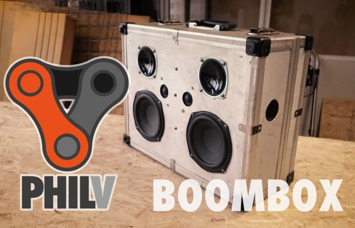 I Made A Cheap Portable Bluetooth Boombox From Used Speakers And An Old Suitcase