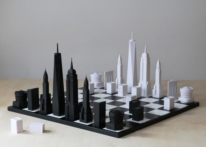 The New York Skyline Chess Set