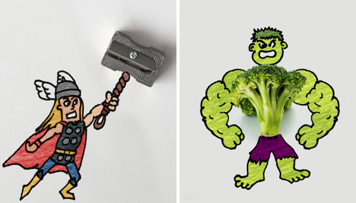 Pop Culture Nerd Art Made Out Of Everyday Objects