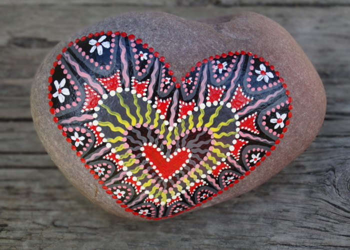 I Paint Colourful Hearts On Stones