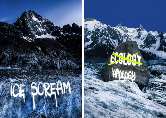 Ice Scream: First 'Street Art' Work On French Glacier