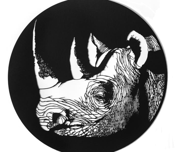 I Create Paper Cuttings Of Extinct Animals