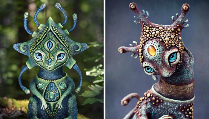 Mystical Creatures That Bring Light, Peace And Happiness By Ukrainian Artist