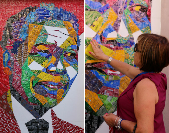 We Collected 25 000 Empty Beverage Cans From Local Bars To Create Street Art
