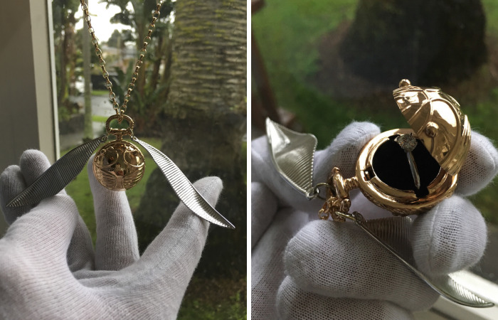 I Made A Golden Snitch Engagement Ring Box