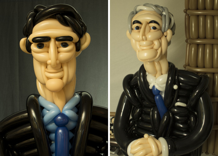 Balloon Prime Ministers Mark The 150th Anniversary Of The Confederation Of Canada