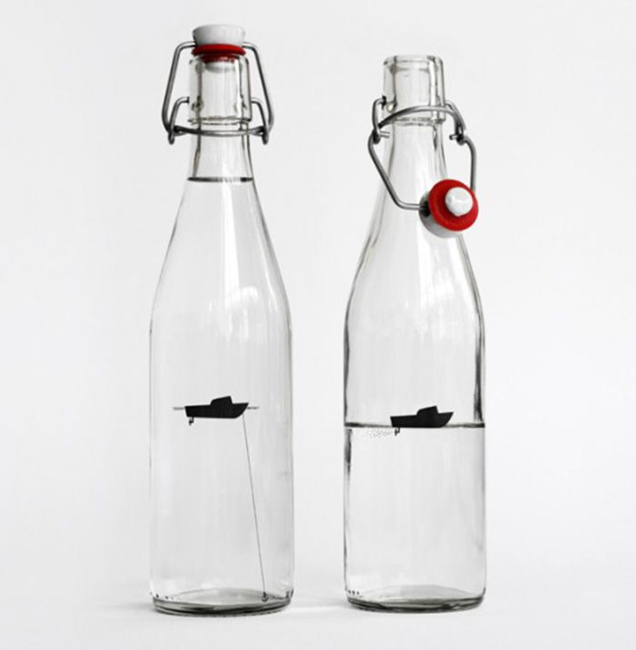 Fishing Boat Water Bottle