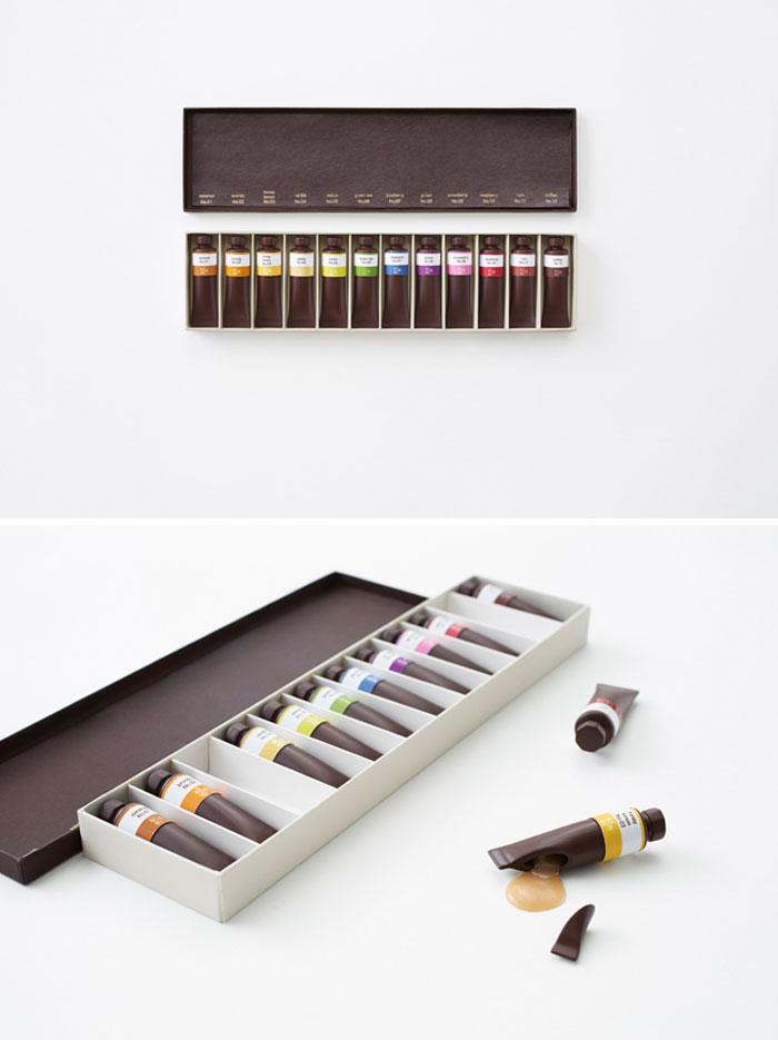 Chocolates Like A Set Of Oil Paints