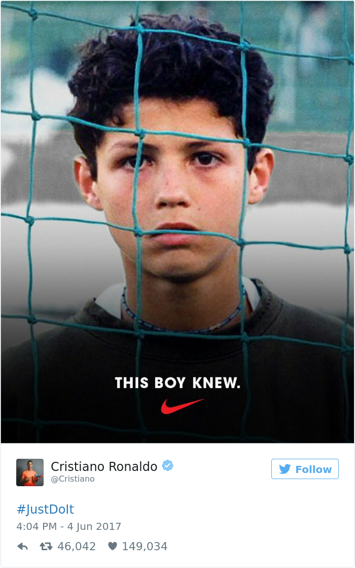 Desviación velocidad Perseguir  Cristiano Ronaldo Just Tweeted Nike's New Ad Featuring Himself, And It  Hilariously Backfires | Bored Panda