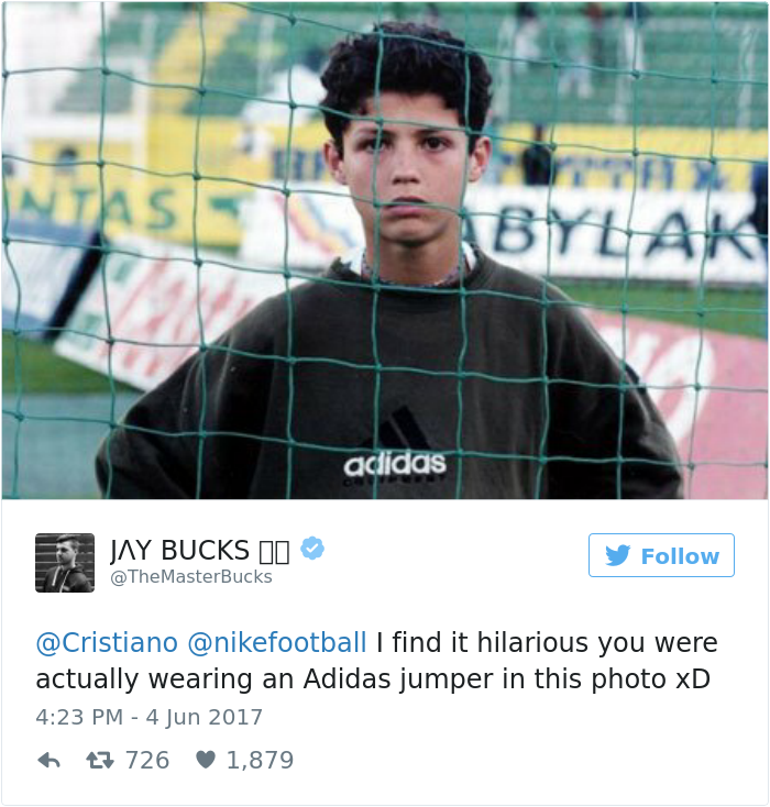 Cristiano Ronaldo Just Tweeted Nike S New Ad Featuring Himself And It Hilariously Backfires Bored Panda