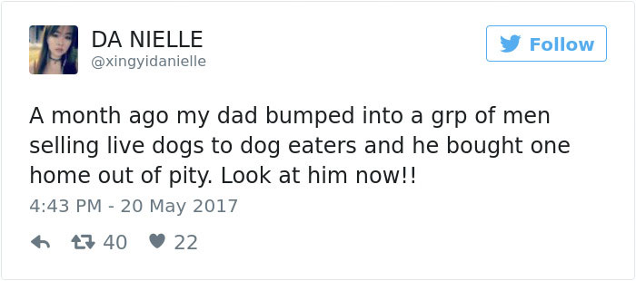 This Man Saw A Dog Being Sold For Meat And Just Couldn't Walk By
