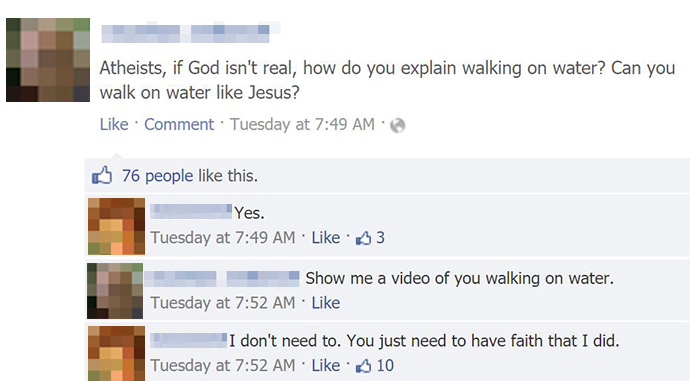 Can Atheists Walk On Water?