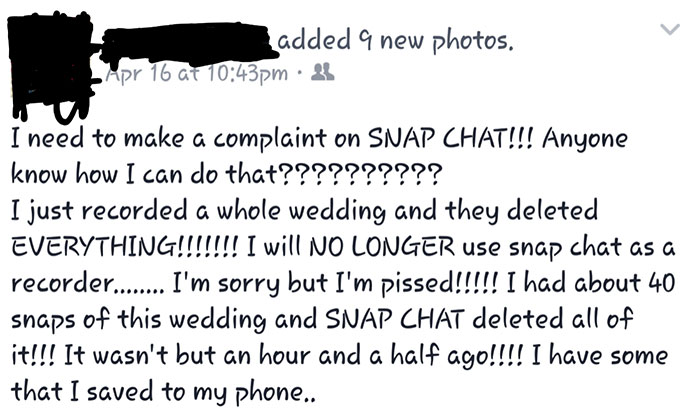 Girl Takes Wedding Photos With Snapchat