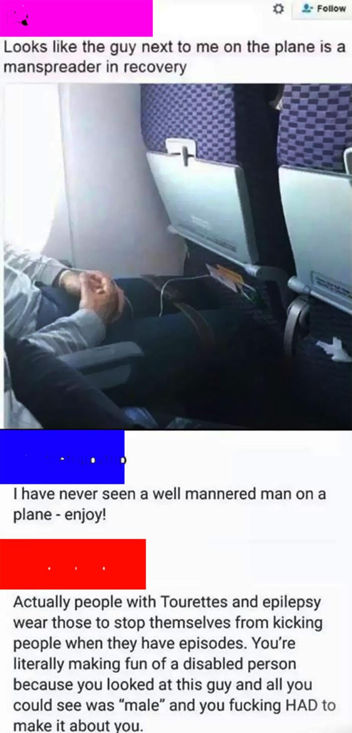 Manspreader In Recovery.....?