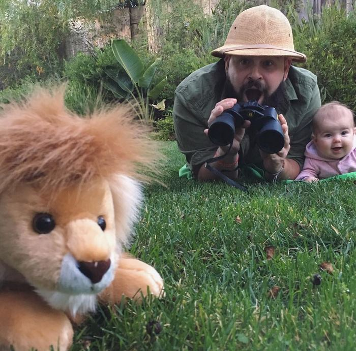 Father Dressing Up With His Baby Daughter In Costumes