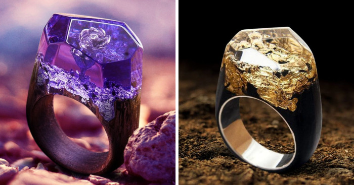 We Hide Mysteries Inside Our Wood And Resin Rings
