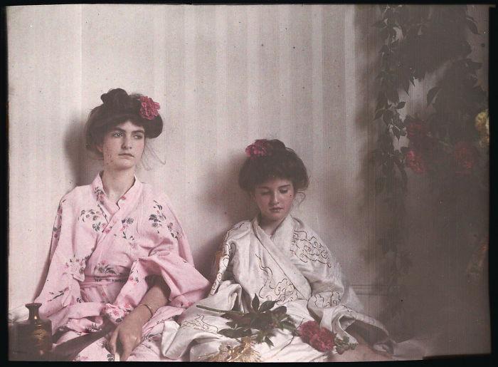 Two Girls In Oriental Costume, 1908