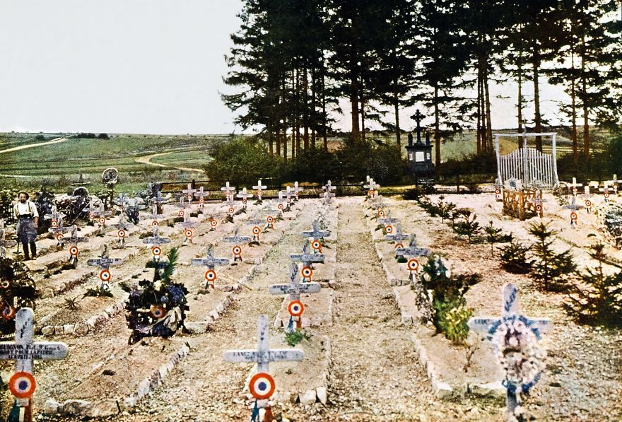 Autochrome Of A French Military Cemetery, 1916