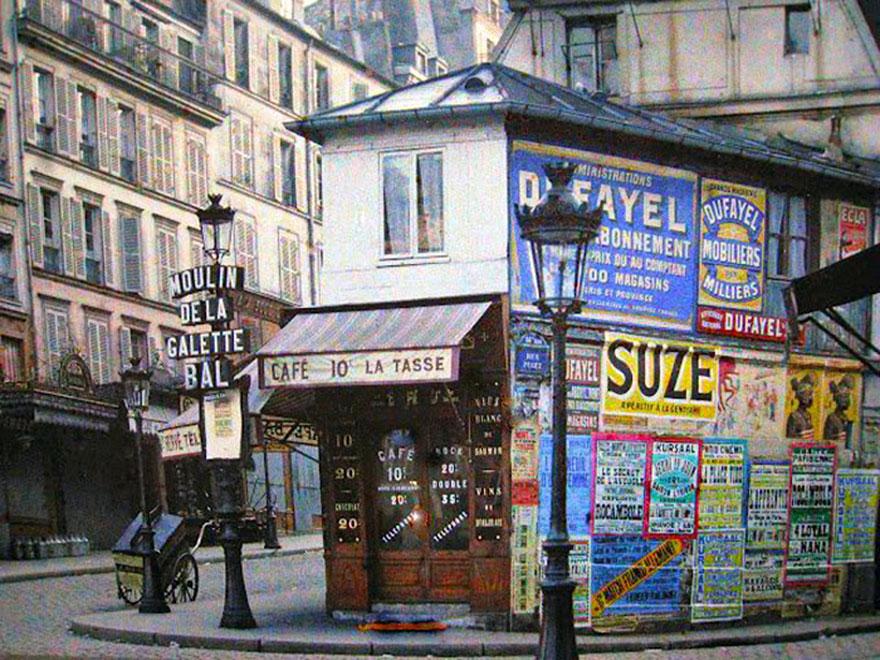 Cafe La Tasse, Paris, 1914