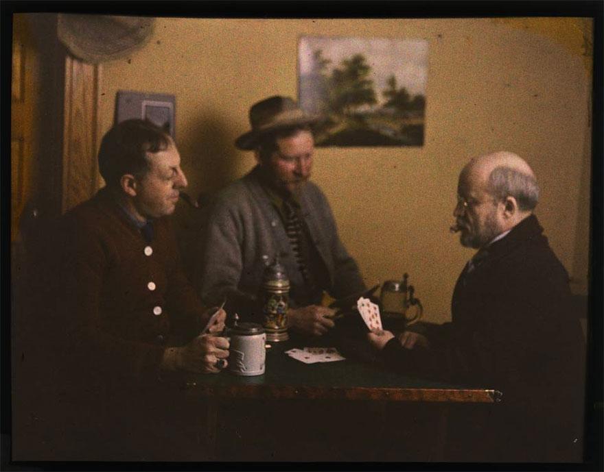 Three Men Playing Cards, 1915