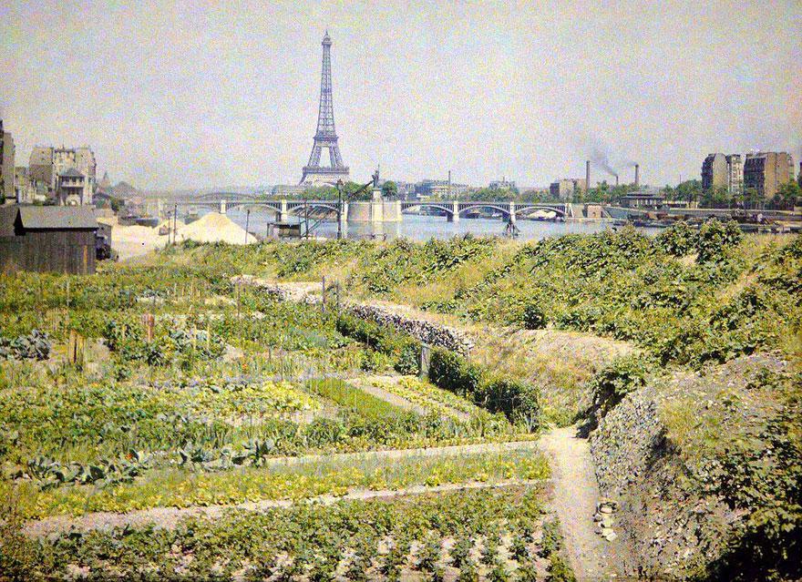 Eiffel Tower River View, Paris, 1914