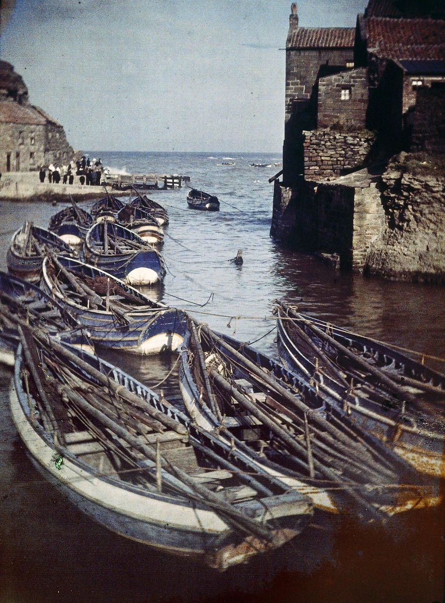Staithes Harbor, 1915
