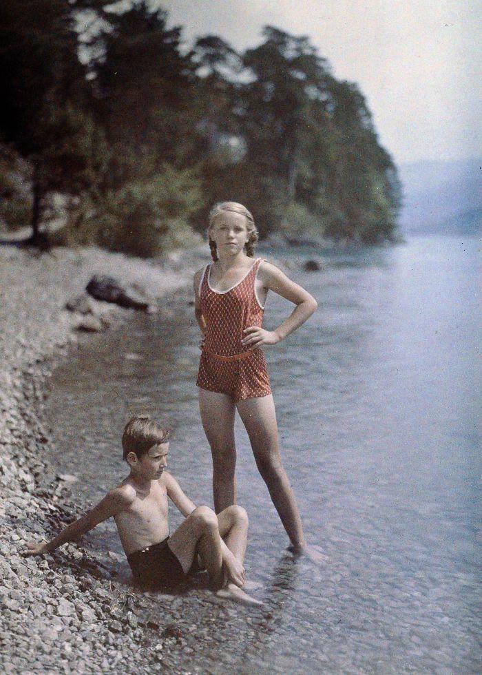 Eva And Heinz On The Shore Of Lake Lucerne, Switzerland, C. 1927
