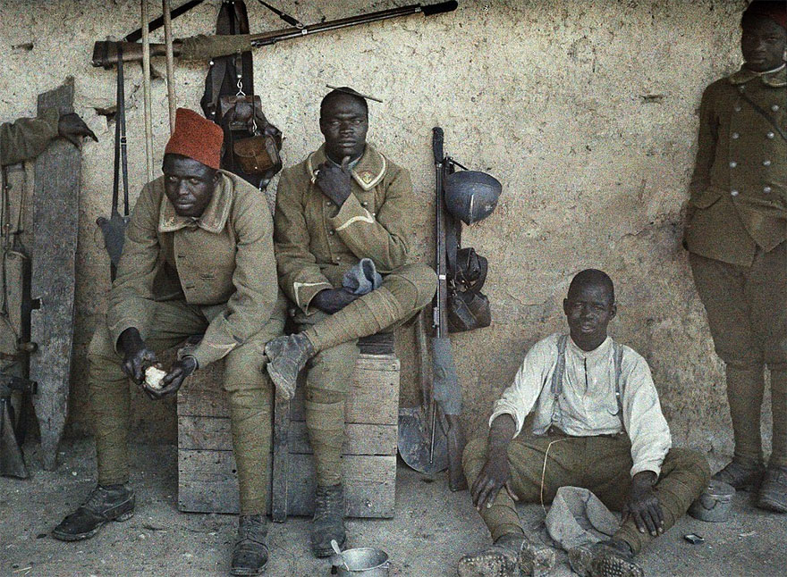 Senegalese Soldiers Serving In The French Army As Infantrymen Are Resting In A Room With Guns And Equipment Next To Them, 16th June 1917