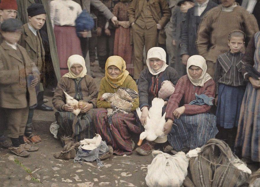 Krusevac, Serbia (Market Scene), 1913