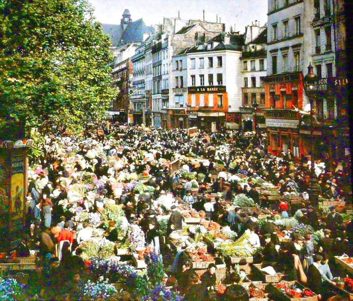 Outdoor Market, Paris, 1914
