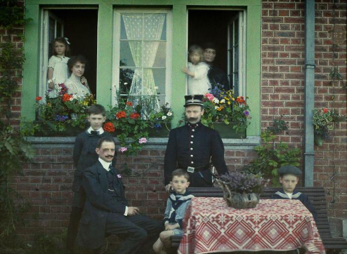 Family Portrait At Roannay, Belgium, 1913
