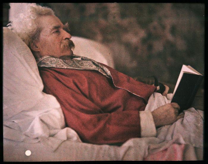 Autochrome Of Mark Twain, 1908