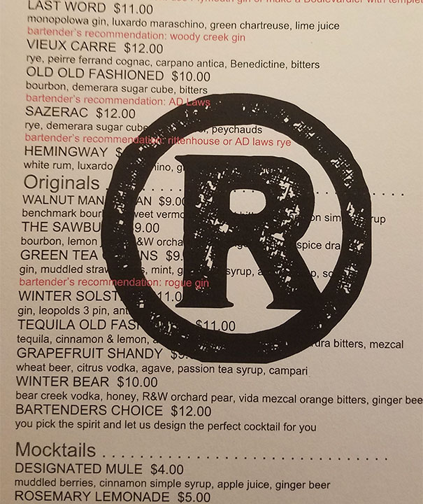 The Restaurant I Went To Plastered Their Logo All Over The Descriptions
