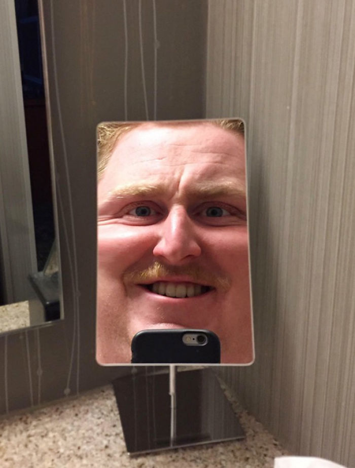 When You're Feeling Great But Your Hotel Mirror Puts You Back In Check