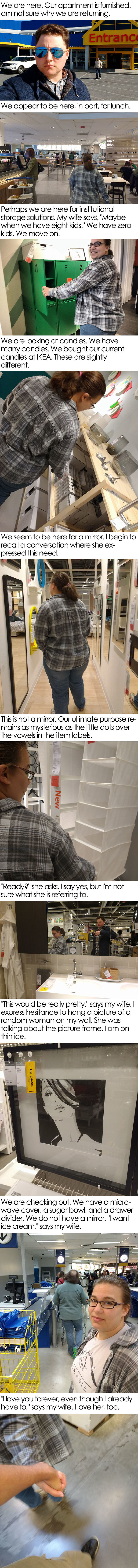 My Wife And I Visit IKEA Again And I Try To Figure Out Why