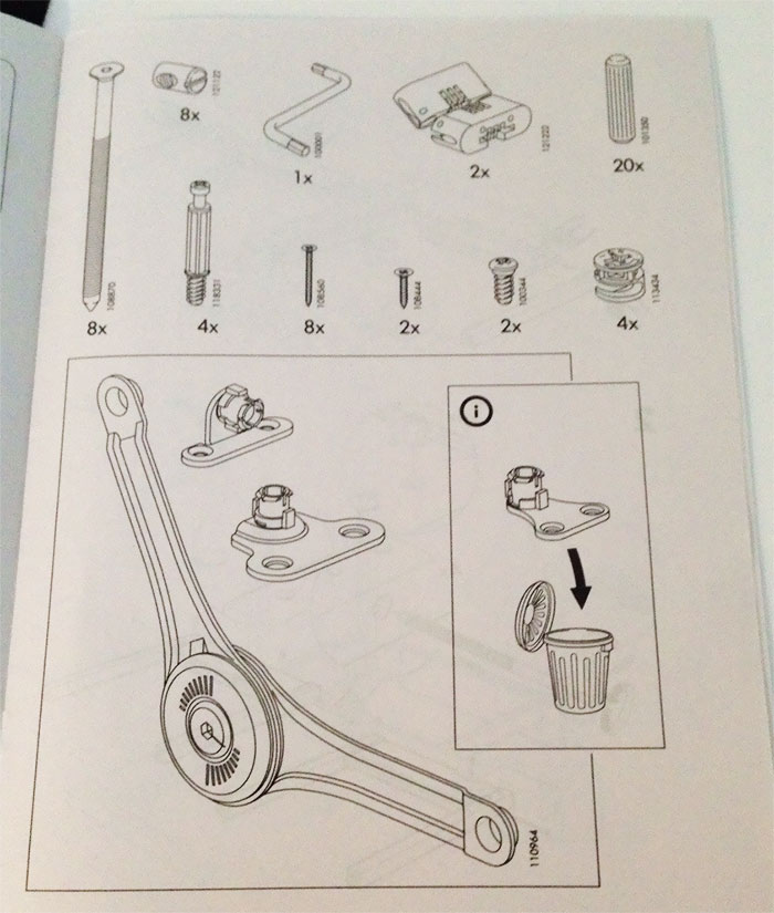 A Page In My Ikea Instruction Manual Told Me To Throw Out One Of The Parts